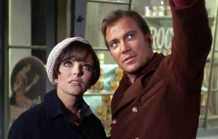 star trek Joan Collins and William Shatner from City on the Edge of Forever