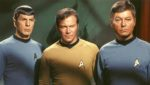 Star Trek leading men, William Shatner, Leonard Nimoy and DeForest Kelley