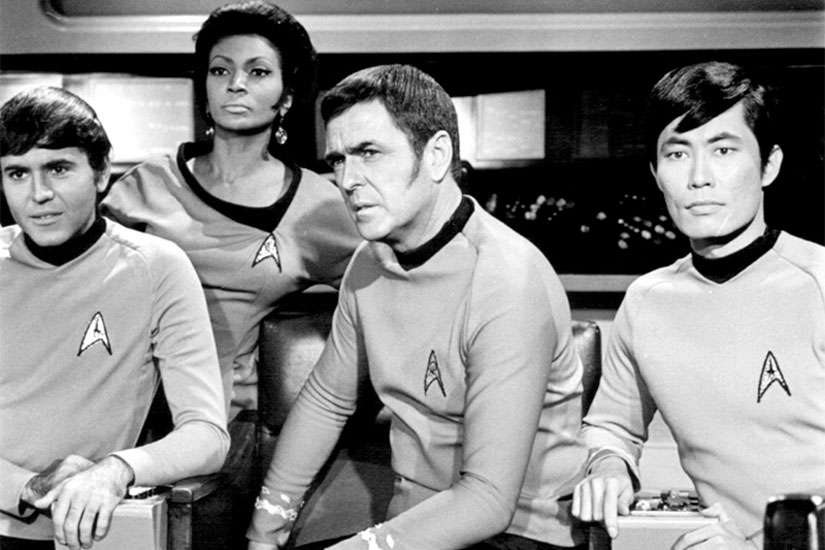 Star Trek supporting cast, Chekov, Uhura, Scotty and Sulu