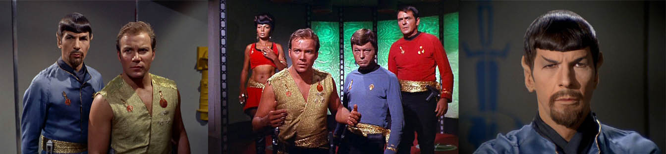 The cast of Star Trek in the Mirror Universe